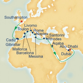 London to Dubai Princess Cruises Cruise