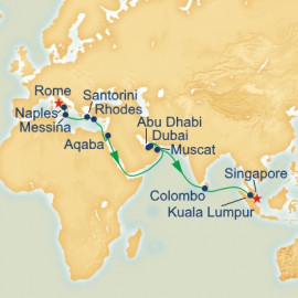 Rome to Singapore Princess Cruises Cruise