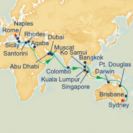 Rome to Sydney Princess Cruises Cruise