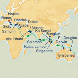 Rome to Brisbane Itinerary