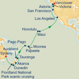Hawaii and Tahiti and South Pacific Crossing Princess Cruises Cruise