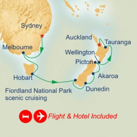 Fly Australia and New Zealand Princess Cruises Cruise
