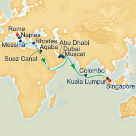 Mediterranean and Southeast Asia Itinerary
