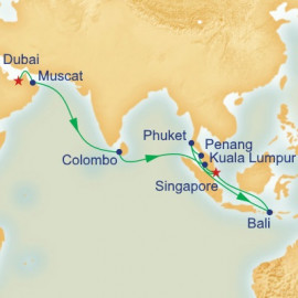 Dubai and Southeast Asia Princess Cruises Cruise