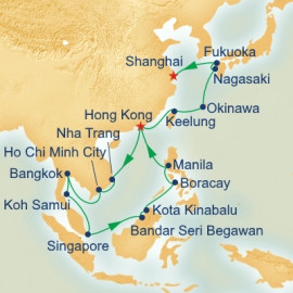 China Japan and Southeast Asia Itinerary