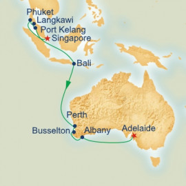 Singapore to Adelaide Princess Cruises Cruise