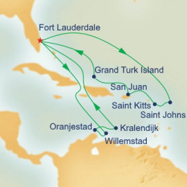 Caribbean Southern Adventurer Itinerary