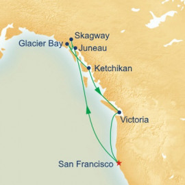 Alaska Inside Passage with Glacier Bay Itinerary