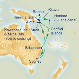 Papua New Guinea and South Pacific Itinerary