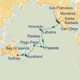 San Francisco to Sydney Princess Cruises Cruise