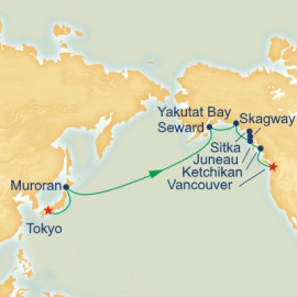 Alaska and North Pacific Crossing Itinerary