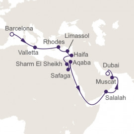 Ancient Sands and Extravagant Cities Regent Seven Seas Cruises Cruise