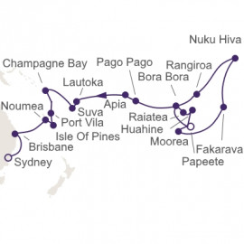 Pearls Of The Pacific Itinerary