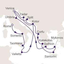 Gondola Rides and Gorgeous Rivieras Itinerary