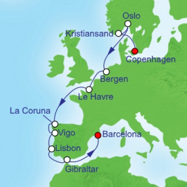 Copenhagen To Barcelona Royal Caribbean Cruise