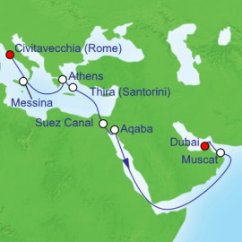 Rome to Dubai Reposition Royal Caribbean Cruise