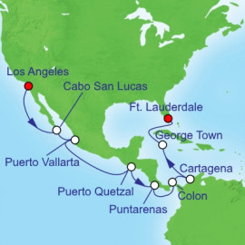 Panama Canal Eastbound Itinerary