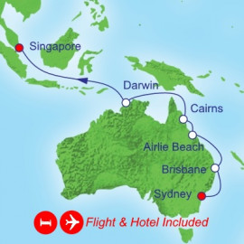 Fly Stay Sydney to Singapore Itinerary
