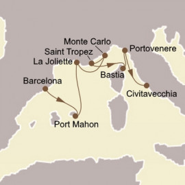 Romance Of The Rivieras Itinerary