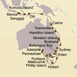 Austral Autumn and Coral Coast Itinerary