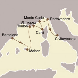 Rivieras and Rome Seabourn Cruise