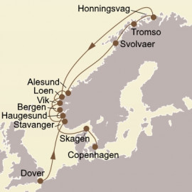 Scenic Fjords and North Cape Seabourn Cruise