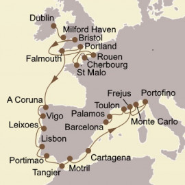 Western Europe and Spanish Splendors Seabourn Cruise