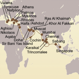 Arabia and India Adventure Itinerary