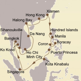 South China Sea Circle Seabourn Cruise