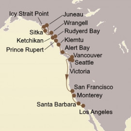 Alaska and Americas Gold Coast Itinerary
