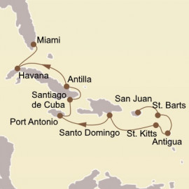 Holiday Cuban and Caribbean Stars Seabourn Cruise