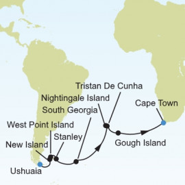 Ushuaia to Cape Town Itinerary