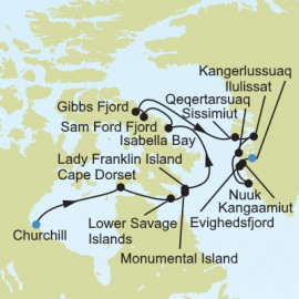 Arctic and Greenland Itinerary