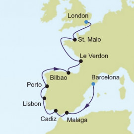 Barcelona to London Silversea Cruises Cruise