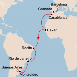 Southern Atlantic Crossing Itinerary