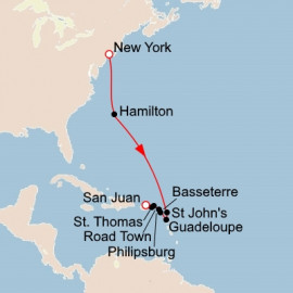 New York and Bermuda and the West Indies Itinerary