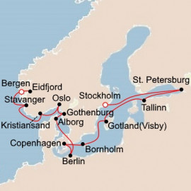 Majestic Fjords and Vibrant Russia Itinerary