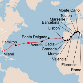 Mediterranean and Atlantic Crossing Itinerary