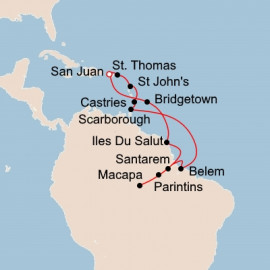 From the Caribbean to the Amazon Itinerary