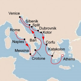 Italy the Adriatic and Greece Itinerary