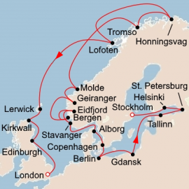 Baltic Jewels and the Midnight Sun Itinerary