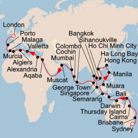 Australia Asia Europe and Beyond Itinerary
