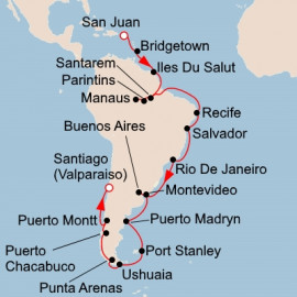 West Indies Amazon and South America Viking Ocean Cruises Cruise