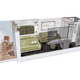 Balcony Cabin Floorplan