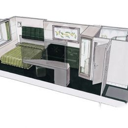 Ocean View Stateroom floorplan