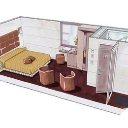 Club Inside Stateroom floorplan