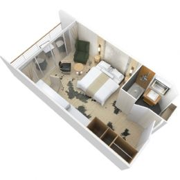 Club Continent Suite floorplan