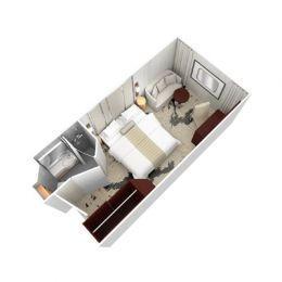 Club Oceanview Stateroom floorplan