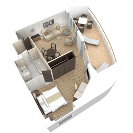 Club Ocean Suite Layout