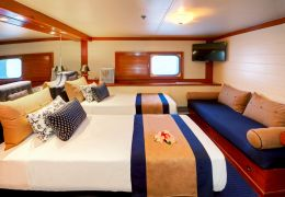 Oceanview Cabin with Twin Beds